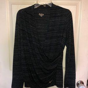 Super soft cross front shirt